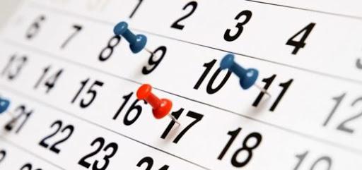 Calendario settimanale 6-13 giugno 2021